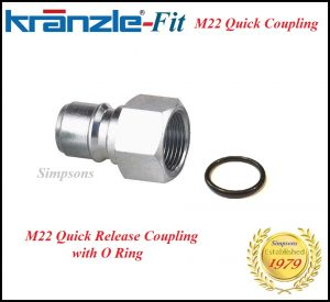 Kranzle-Fit Quick Release Coupling Kobalt Male M22 Image
